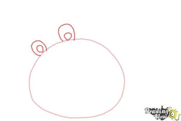 How to Draw Angry Birds Pig, King Pig - Step 2