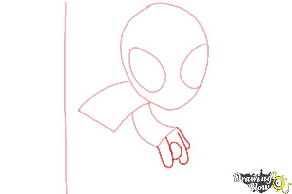 How to Draw Chibi Spiderman - Step 3
