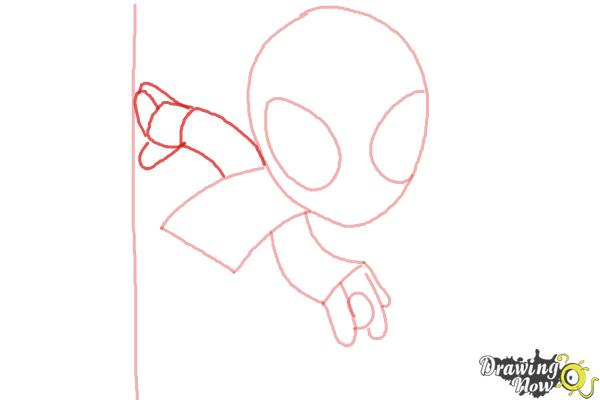 How to Draw Chibi Spiderman - Step 4