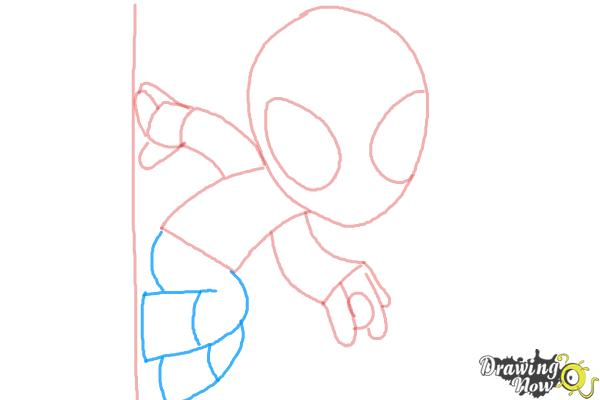How to Draw Chibi Spiderman - Step 5