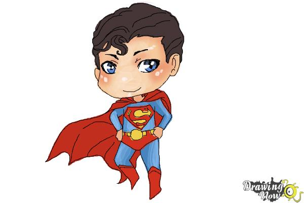 How to Draw Chibi Superman - Step 10