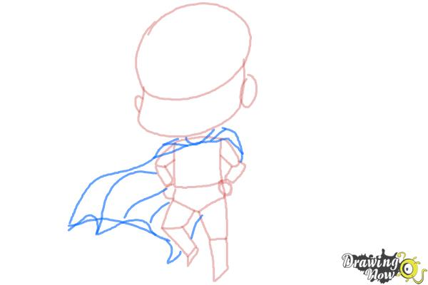 How to Draw Chibi Superman - Step 5