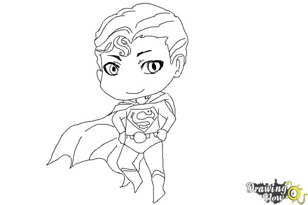 How to Draw Chibi Superman - Step 9