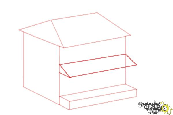 How to Draw a House, Two Story House - Step 5