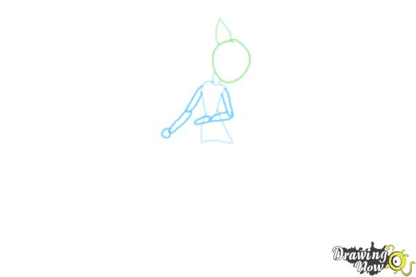 How to Draw Fluttershy from My Little Pony Equestria Girls Friendship Games - Step 3