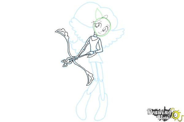 How to Draw Fluttershy from My Little Pony Equestria Girls Friendship Games - Step 7