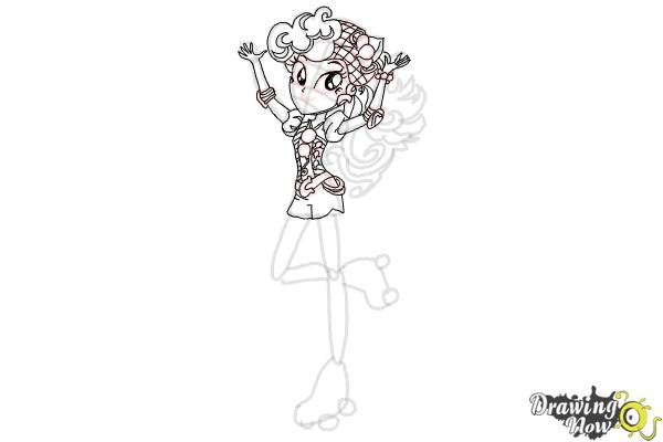 How to Draw Pinkie Pie from My Little Pony Equestria Girls Friendship Games - Step 8