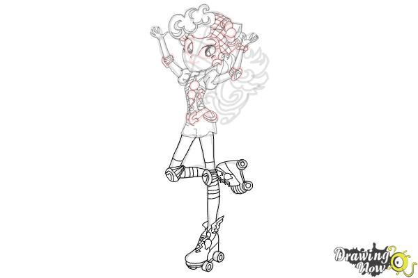 How to Draw Pinkie Pie from My Little Pony Equestria Girls Friendship Games - Step 9