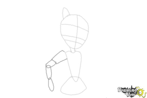 How to draw Sunset Shimmer from My Little Pony Equestria Girls Friendship Games - Step 4