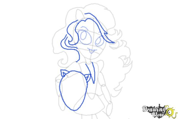 How to draw Sunset Shimmer from My Little Pony Equestria Girls Friendship Games - Step 7
