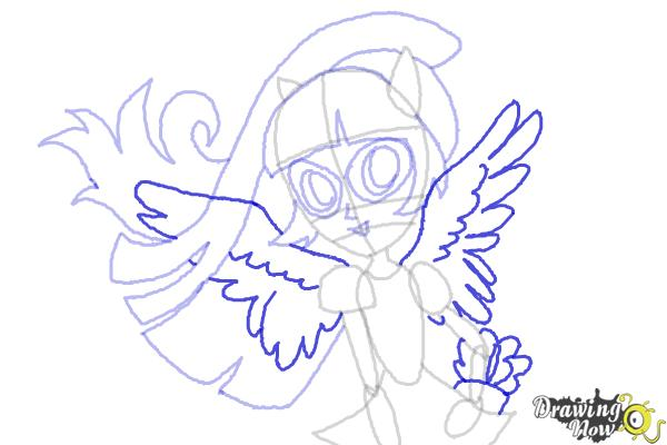 How to Draw Twilight Sparkle from My Little Pony Equestria Girls Friendship Games - Step 10