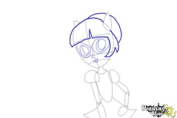 How to Draw Twilight Sparkle from My Little Pony Equestria Girls Friendship Games - Step 7