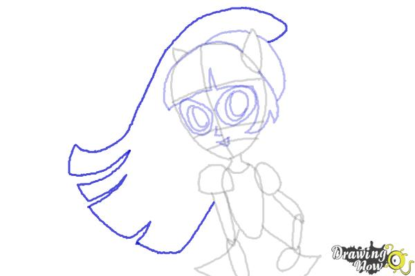 How to Draw Twilight Sparkle from My Little Pony Equestria Girls Friendship Games - Step 8