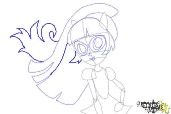 How to Draw Twilight Sparkle from My Little Pony Equestria Girls Friendship Games - Step 9