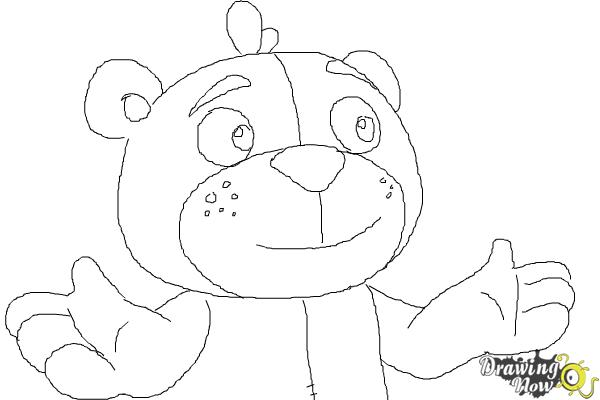 How to Draw Teddy from Doc Mcstuffins - Step 10