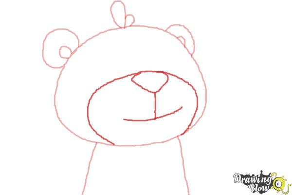 How to Draw Teddy from Doc Mcstuffins - Step 3