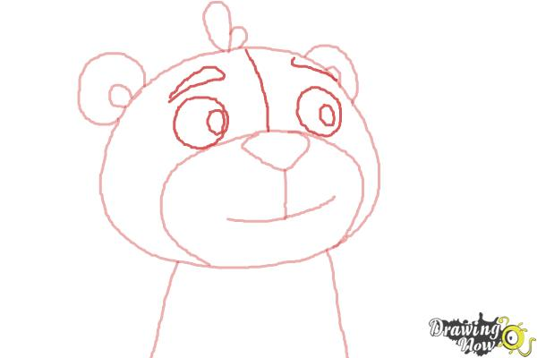 How to Draw Teddy from Doc Mcstuffins - Step 4