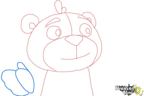 How to Draw Teddy from Doc Mcstuffins - Step 5