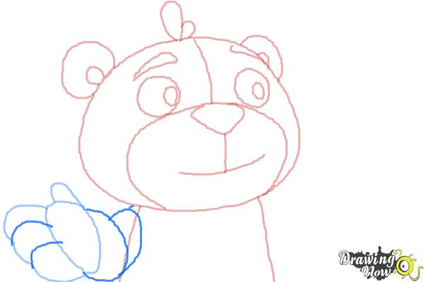 How to Draw Teddy from Doc Mcstuffins - Step 6
