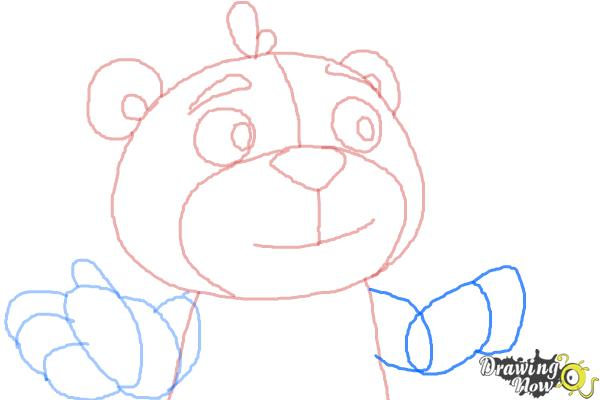 How to Draw Teddy from Doc Mcstuffins - Step 7