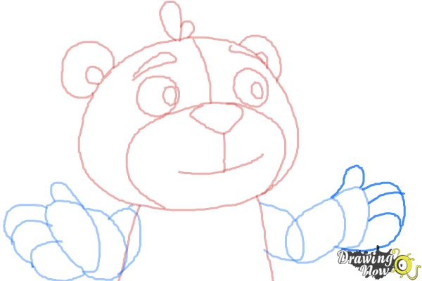 How to Draw Teddy from Doc Mcstuffins - Step 8