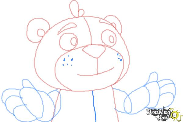 How to Draw Teddy from Doc Mcstuffins - Step 9