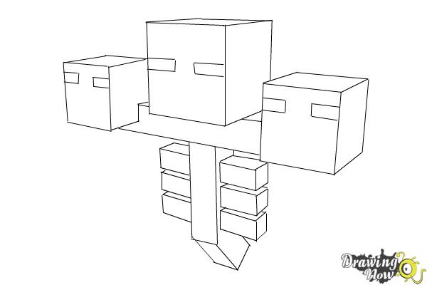 How To Draw Wither From Minecraft Drawingnow