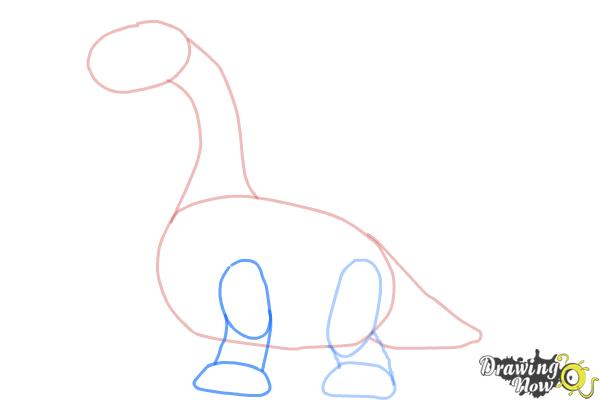 How to Draw Bronty from Doc Mcstuffins - Step 4