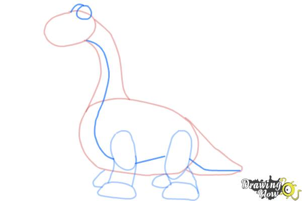 How to Draw Bronty from Doc Mcstuffins - Step 6
