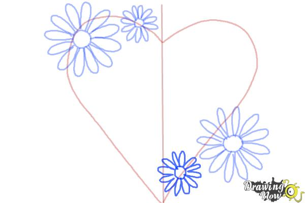 How to Draw a Mother'S Day Card - Step 5