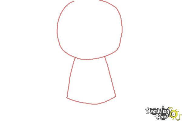 How to draw Chibi Deadpool - Step 1