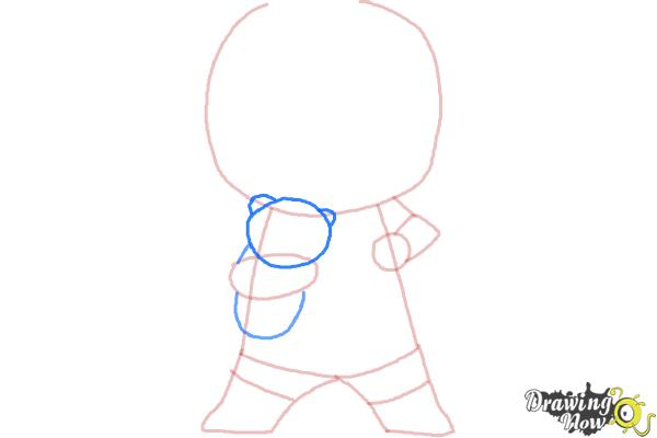 How to draw Chibi Deadpool - Step 4