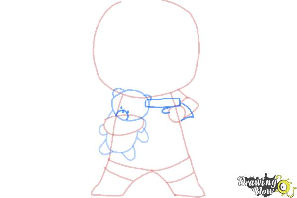 How to draw Chibi Deadpool - Step 6