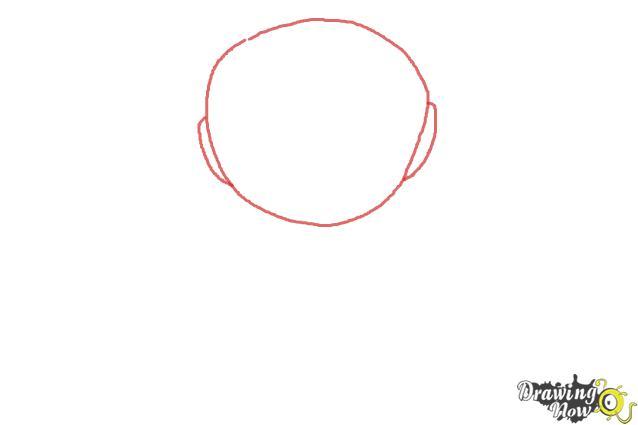 How to Draw Chibi Iron Man - Step 1