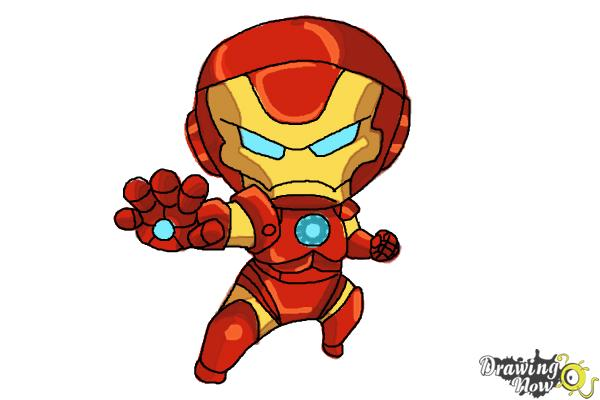 How to Draw Chibi Iron Man - DrawingNow