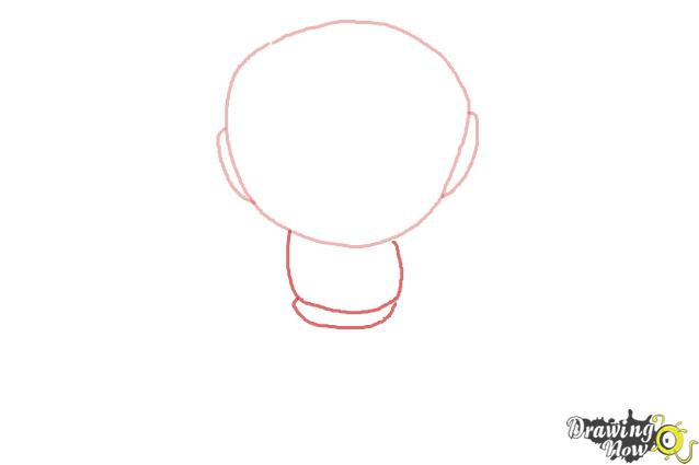 How to Draw Chibi Iron Man - Step 2
