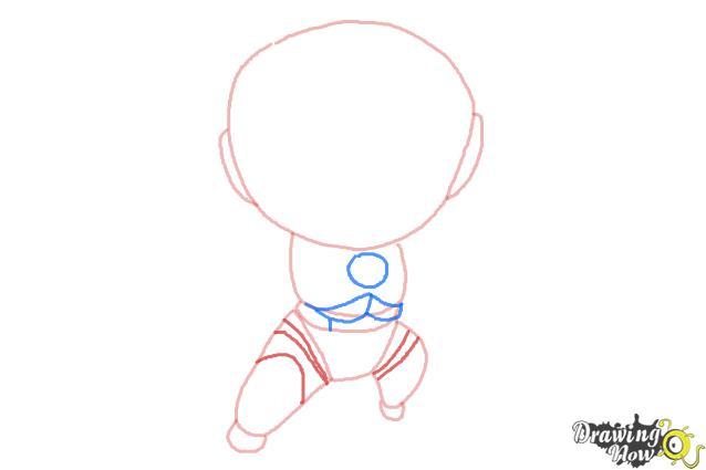 How to Draw Chibi Iron Man - Step 4