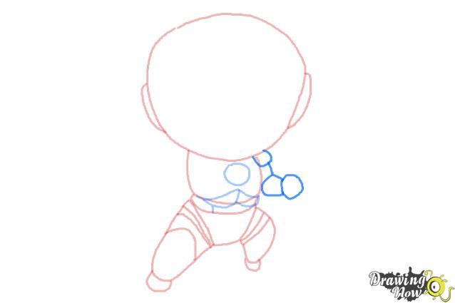 How to Draw Chibi Iron Man - Step 5