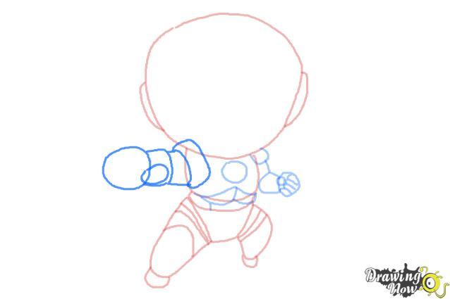How to Draw Chibi Iron Man - Step 7