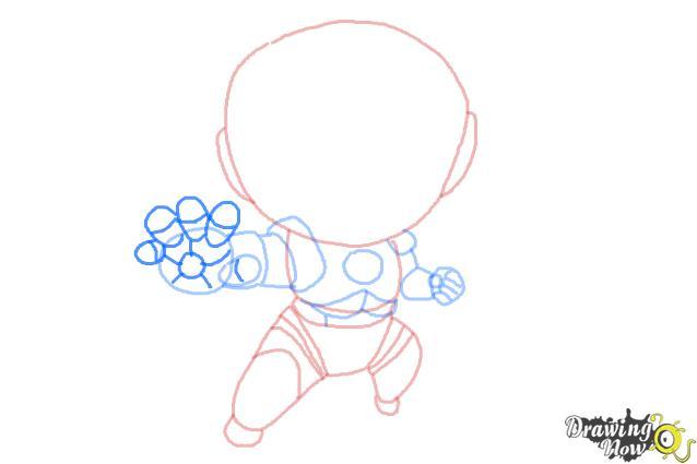 How to Draw Chibi Iron Man - Step 8