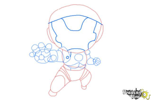 How to Draw Chibi Iron Man - Step 9