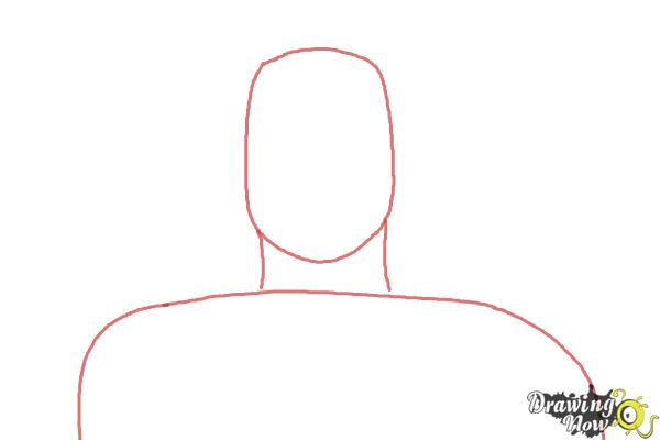 How to Draw Roman Reigns from WWE - Step 1