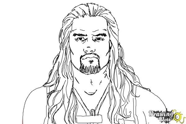 How to Draw Roman Reigns from WWE - Step 10