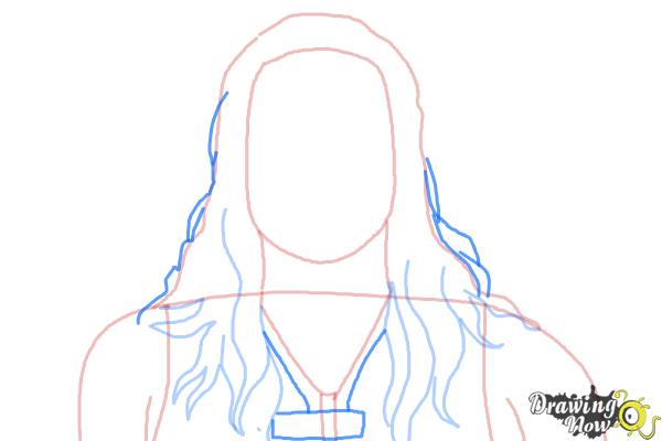 How to Draw Roman Reigns from WWE - Step 5