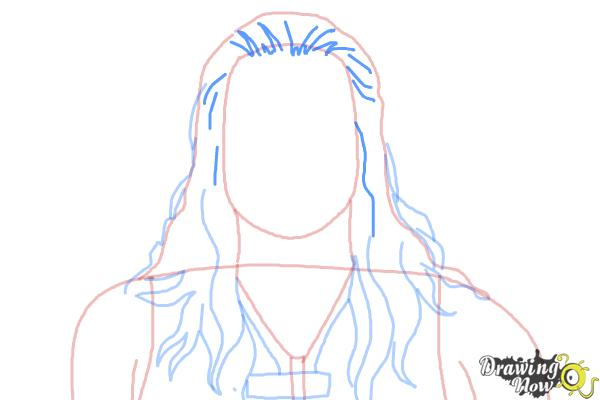How to Draw Roman Reigns from WWE - Step 6