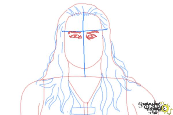 How to Draw Roman Reigns from WWE - Step 7
