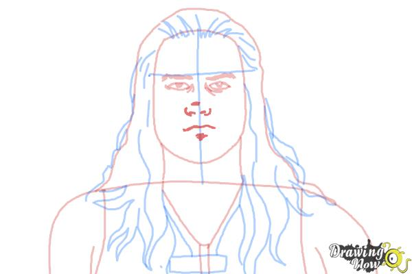 How to Draw Roman Reigns from WWE - Step 8