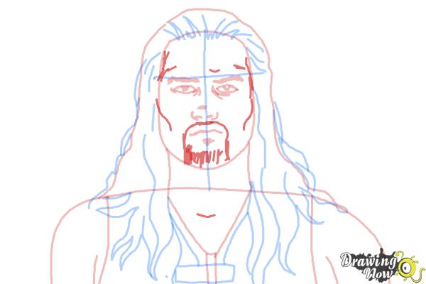 How to Draw Roman Reigns from WWE - Step 9
