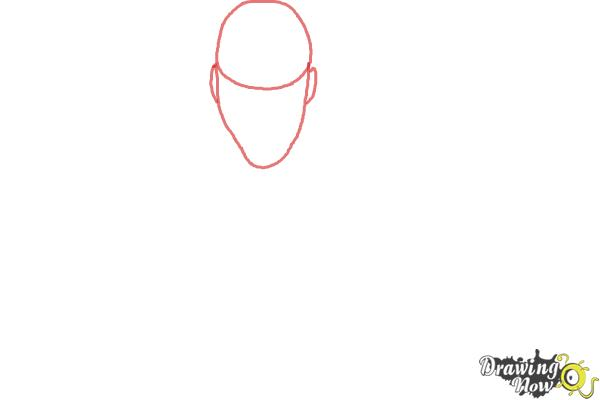 How to Draw a Person from Above - Step 1