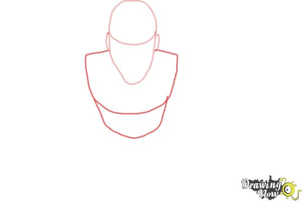 How to Draw a Person from Above - Step 2